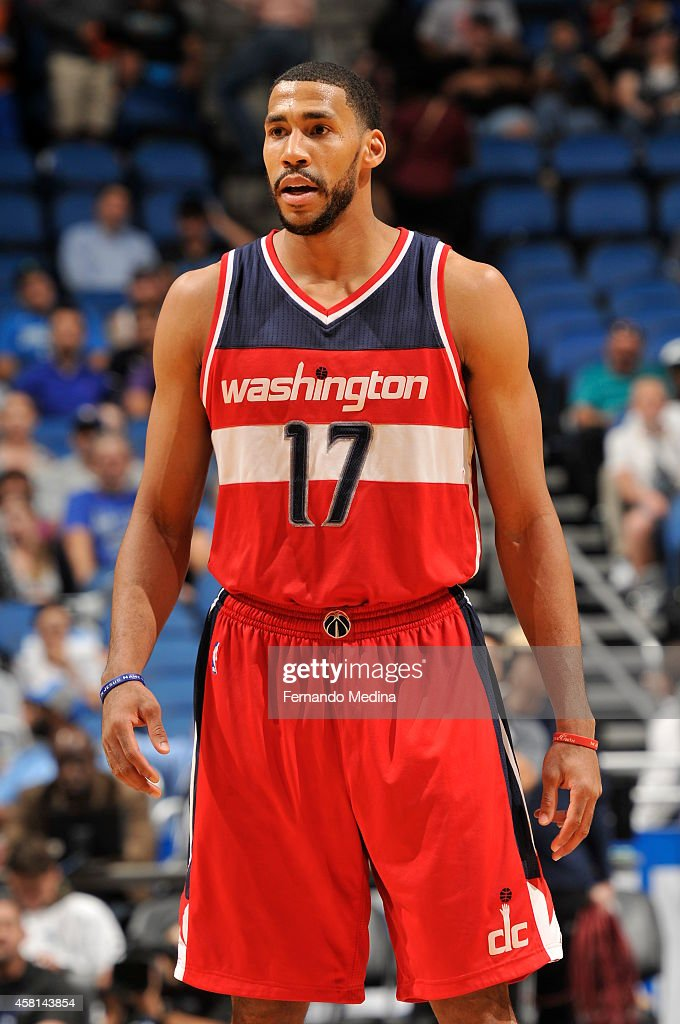 Garrett Temple of the Washington Wizards during the game against the Orlando Magic on October 30 2014 at Amway Center in Orlando Florida NOTE TO USER...