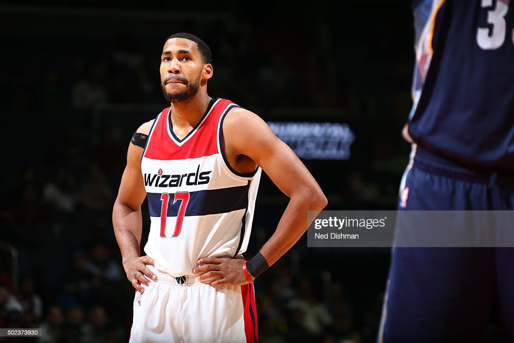 Garrett Temple of the Washington Wizards during the game against the Memphis Grizzlies on December 23 2015 at Verizon Center in Washington District...