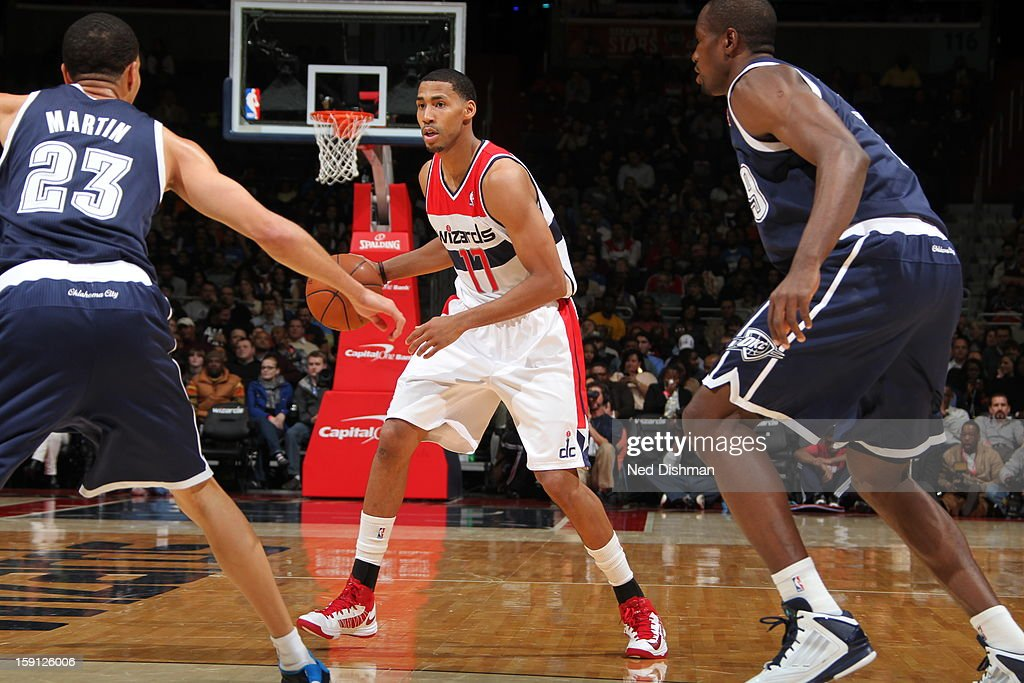 <a gi-track='captionPersonalityLinkClicked' href=/galleries/search?phrase=Garrett+Temple&family=editorial&specificpeople=709398 ng-click='$event.stopPropagation()'>Garrett Temple</a> #17 of the Washington Wizards handles the ball against the Oklahoma City Thunder at the Verizon Center on January 7, 2013 in Washington, DC.