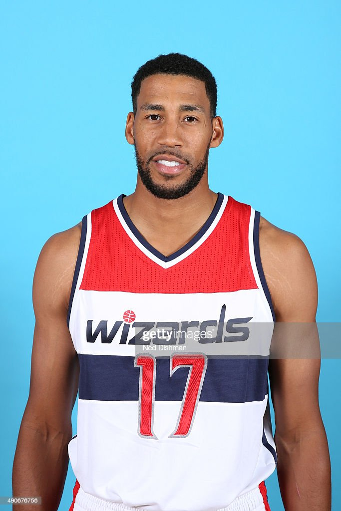 Garrett Temple of the Washington Wizards poses for a photo during 2015 media day at the Verizon Center on May 18 2015 in Washington DC NOTE TO USER...