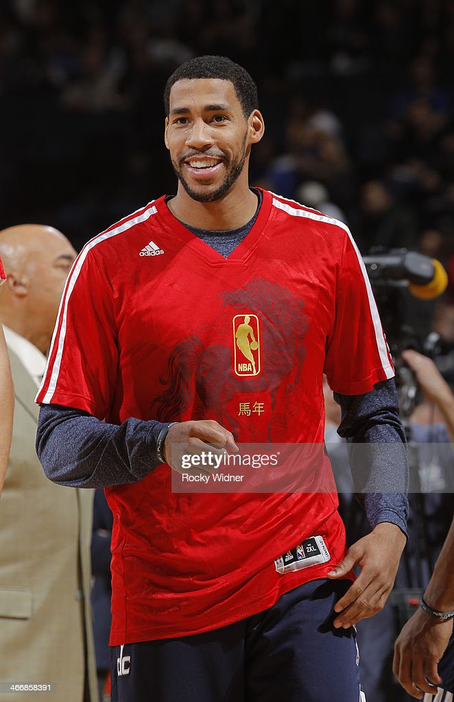 Garrett Temple of the Washington Wizards warms up before a game against the Golden State Warriors on January 28 2014 at Oracle Arena in Oakland...