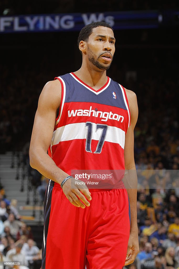 Garrett Temple of the Washington Wizards while facing the Golden State Warriors on January 28 2014 at Oracle Arena in Oakland California NOTE TO USER...