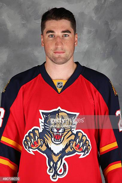 Garrett Wilson of the Florida Panthers poses for his official headshot for the 20152016 season on September 17 2015 at the BBT Center in Sunrise...