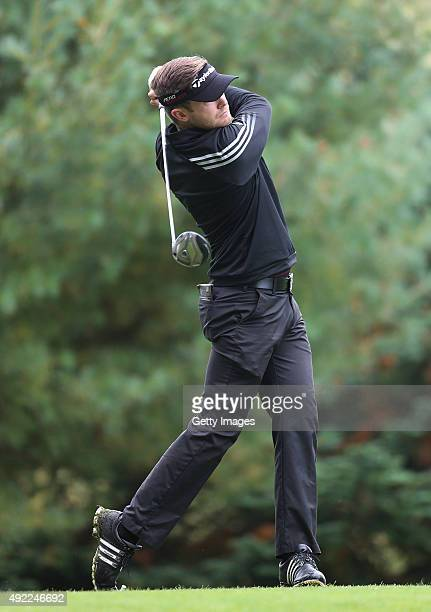 Garrick Porteous at Mount Wolseley Hotel Spa and Golf Resort on October 11 2015 in Carlow Ireland