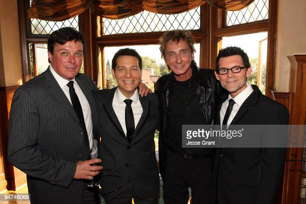 Garry Kief and Barry Manilow attend the wedding of Michael Feinstein and Terrence Flannery held at a private residence on October 17 2008 in Los...