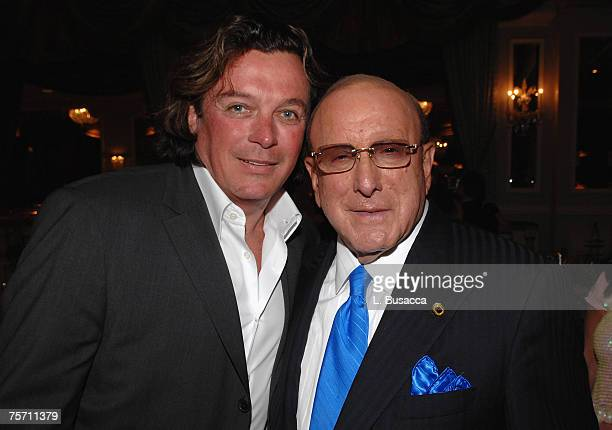 Garry Kief and Chairman and CEO of BMG Label Group Clive Davis attend luncheon honoring Clive Davis with UJA of New York's Music Visionary Award at...