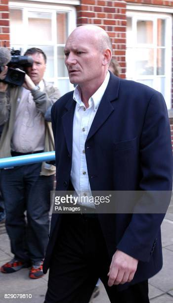 Garry Man from Faversham Kent arrives at Uxbridge Magistrates Court to face a football banning order following his deportation from Portugal...