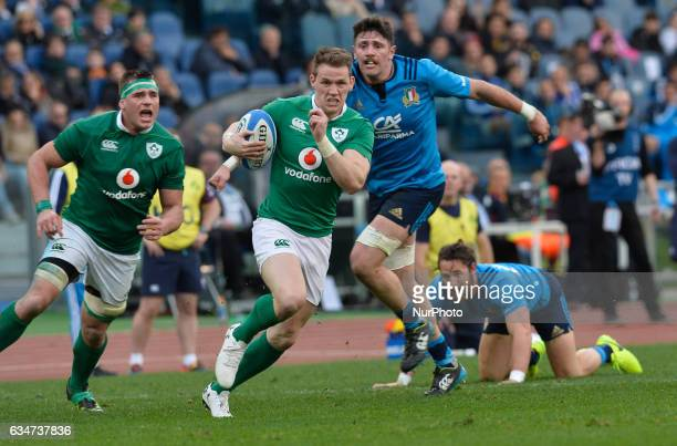 Garry Ringrose during the RBS Six Nations match between Italy and Ireland at the Stadio Olimpico on February 11 2017 in Rome Italy