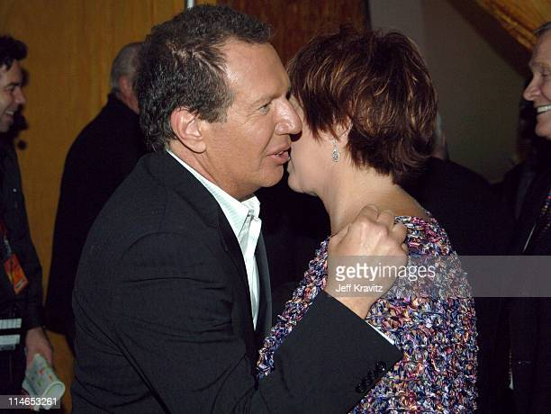 Garry Shandling and Vicki Lawrence during 2005 TV Land Awards Backstage at Barker Hangar in Santa Monica California United States