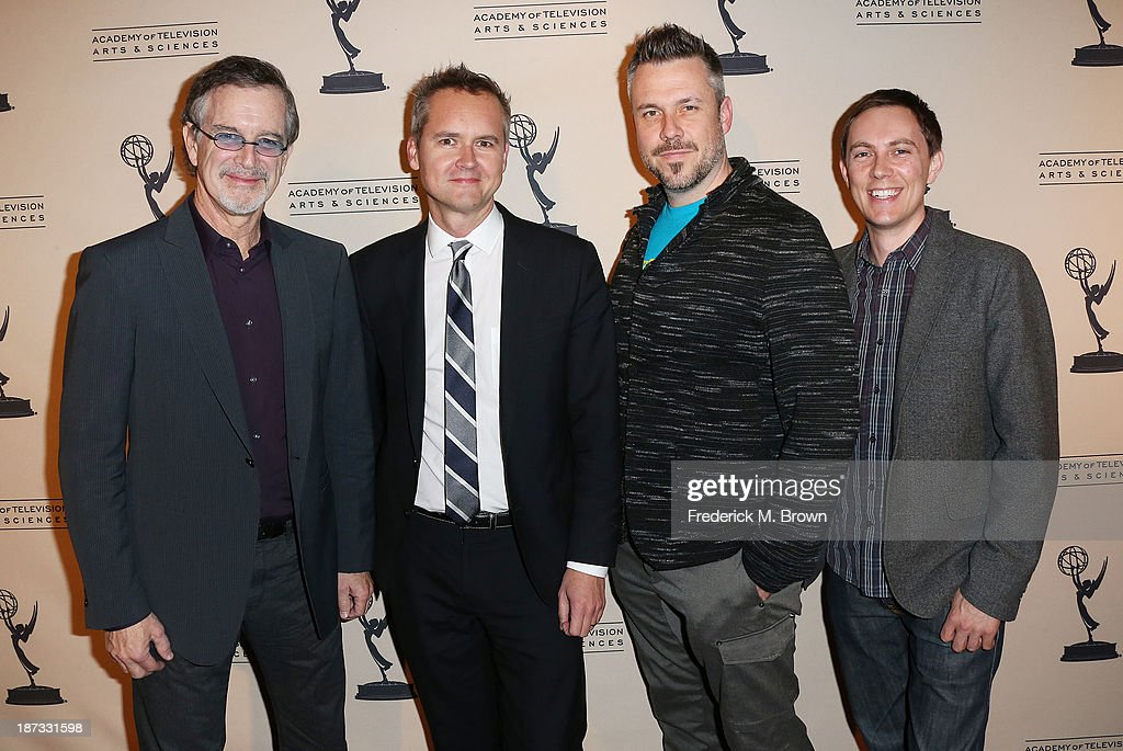 <a gi-track='captionPersonalityLinkClicked' href=/galleries/search?phrase=Garry+Trudeau&family=editorial&specificpeople=1128617 ng-click='$event.stopPropagation()'>Garry Trudeau</a>, Roy Price, director of Amazon Studios, co-creators Josh Stoddard (L) and Evan Endicott attend The Television Academy Presents an Evening with Amazon Studios at the Leonard H. Goldenson Theatre on November 7, 2013 in North Hollywood, California.