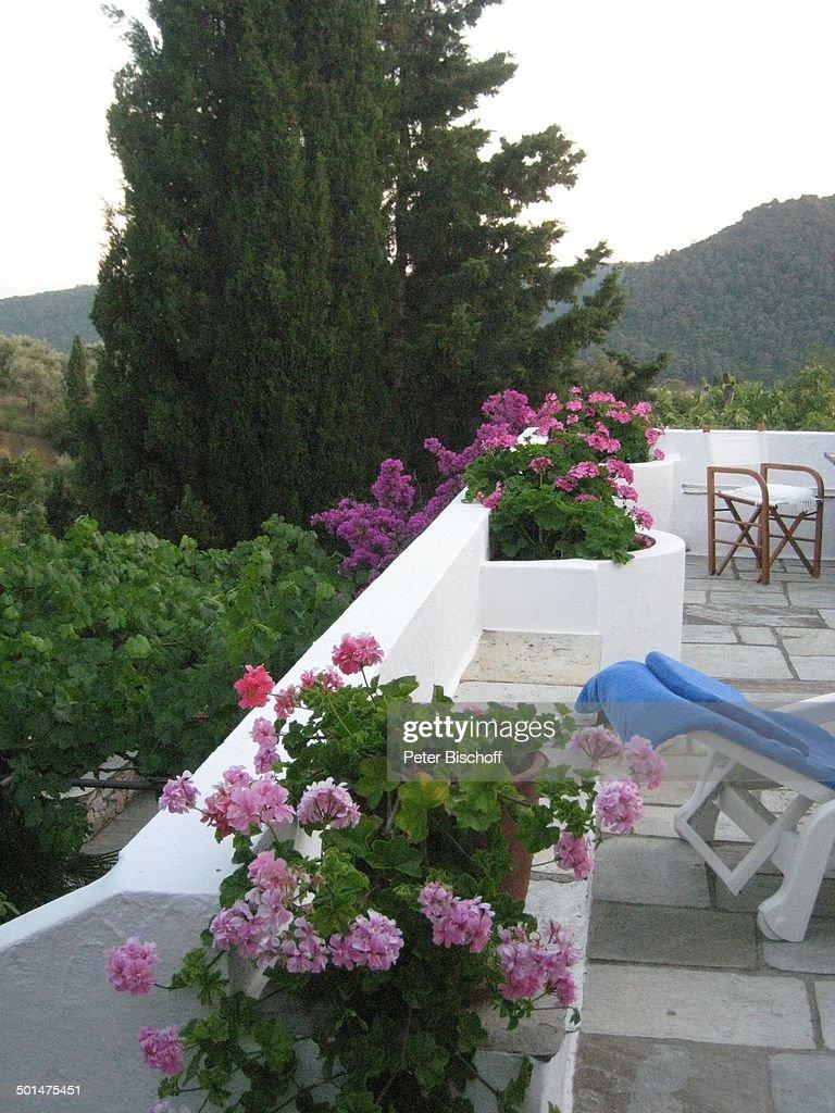 Gartenterrasse, Haus Von Ivan Rebroff, Insel Skopelos, Ägäisches ... Terrassen Design Meer Bilder
