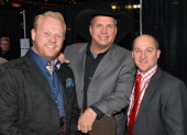 Garth Brooks and Dailey Vincent backstage during rehearsals for Playin' Possum The Final No Show Tribute To George Jones at Bridgestone Arena on...