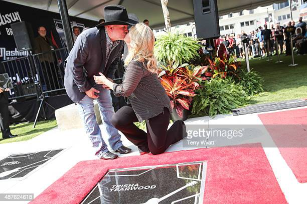 Garth Brooks and Trisha Yearwood are Inducted Into The Nashville Walk Of Fame at Nashville Music City Walk of Fameon September 10 2015 in Nashville...