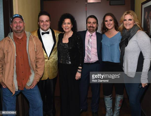 Garth Brooks Nathan Stanley Mrs Jimmi Stanley Ralph Stanley II Allie Colleen Brooks and Trisha Yearwood backstage during Dr Ralph Stanley Forever A...