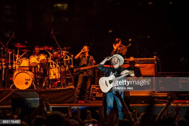 Garth Brooks perfoms at the Outdoor Stage at Lady Bird Lake during SXSW on March 18 2017 in Austin Texas