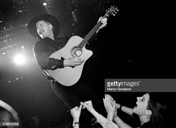 Garth Brooks performs on stage London United Kingdom 1990