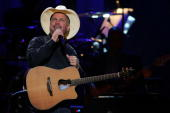 Garth Brooks performs onstage at the Dream Concert presented by Viacom at Radio City Music Hall on September 18 2007 in New York City