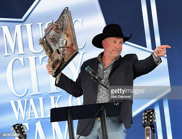 Garth Brooks receives The Music City Ambassador Award as part of Honorees Garth Brooks and Trisha Yearwood being Inducted into The Nashville Walk Of...
