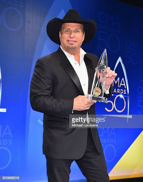 Garth Brooks speaks in the press room during the 50th annual CMA Awards at the Bridgestone Arena on November 2 2016 in Nashville Tennessee