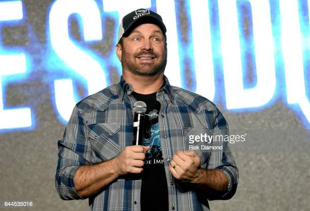 Garth Brooks speaks onstage during Inside Studio G at CRS 2017 Day 2 on February 23 2017 in Nashville Tennessee