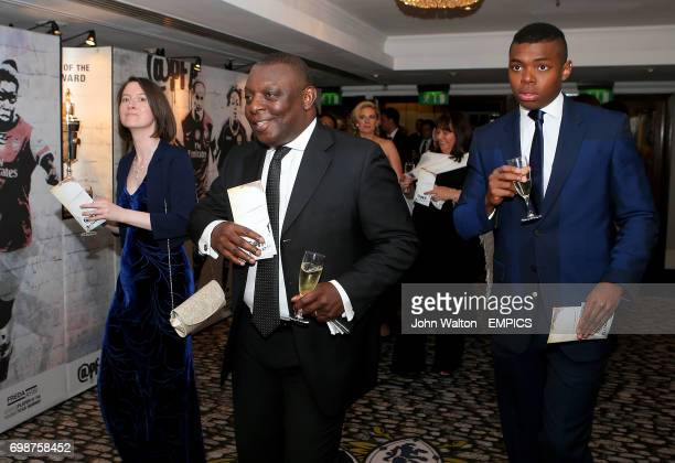 Garth Crooks and son Preye during the PFA Player of the Year Awards 2015 at the Grosvenor House Hotel London