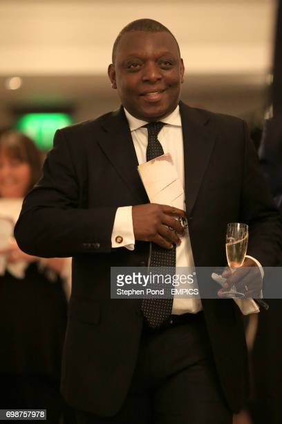 Garth Crooks arrives for the PFA Player of the Year Awards 2015 at the Grosvenor House Hotel London