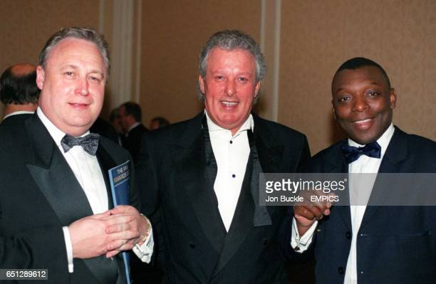 Garth Crooks Chairman of the Institute of Professional Sport enjoying himself with two other guests
