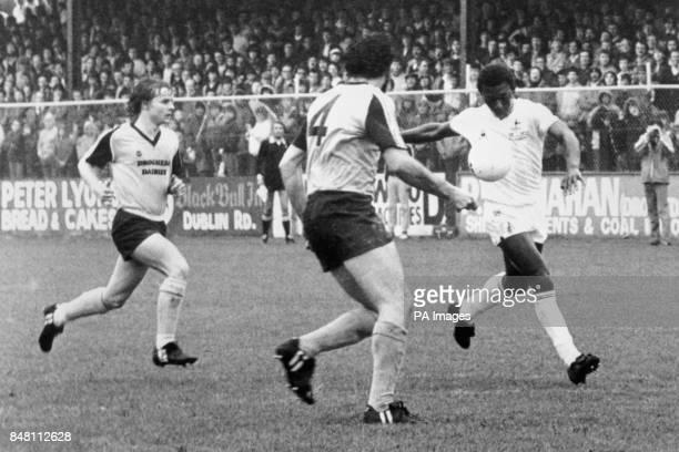 Garth Crooks in action for Tottenham Hotspur against Drogheda United Tottenham Hotspur won the match 60