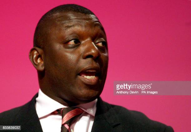 Garth Crooks speaks at the 2007 Labour Party Conference at the Bournemouth International Centre Dorset