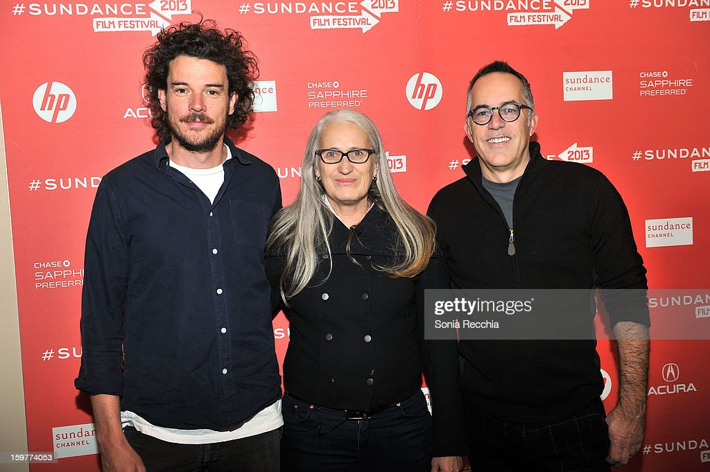 Garth Davis, <a gi-track='captionPersonalityLinkClicked' href=/galleries/search?phrase=Jane+Campion&family=editorial&specificpeople=616530 ng-click='$event.stopPropagation()'>Jane Campion</a> and John Cooper attend the 'Top Of The Lake' premiere at Egyptian Theatre during the 2013 Sundance Film Festival on January 20, 2013 in Park City, Utah.