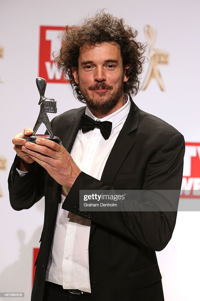 <a gi-track='captionPersonalityLinkClicked' href=/galleries/search?phrase=Garth+Davis&family=editorial&specificpeople=10122249 ng-click='$event.stopPropagation()'>Garth Davis</a> poses in the awards room after winning a Logie for Outstanding Miniseries or Telemovie at the 2014 Logie Awards at Crown Palladium on April 27, 2014 in Melbourne, Australia.