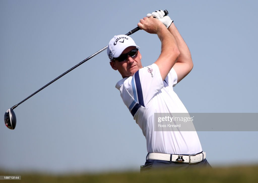 Garth Mulroy of South Africa during the third round of the Abu Dhabi HSBC Golf Championship at the Abu Dhabi Golf Club on January 19, 2013 in Abu Dhabi, United Arab Emirates.