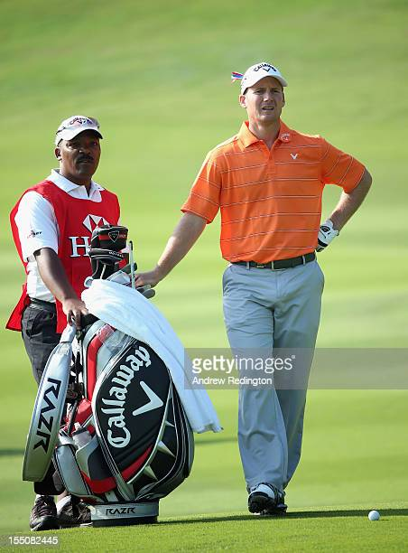 Garth Mulroy of South Africa in action during the first round of the WGC HSBC Champions at the Mission Hills Resort on November 1 2012 in Shenzhen...