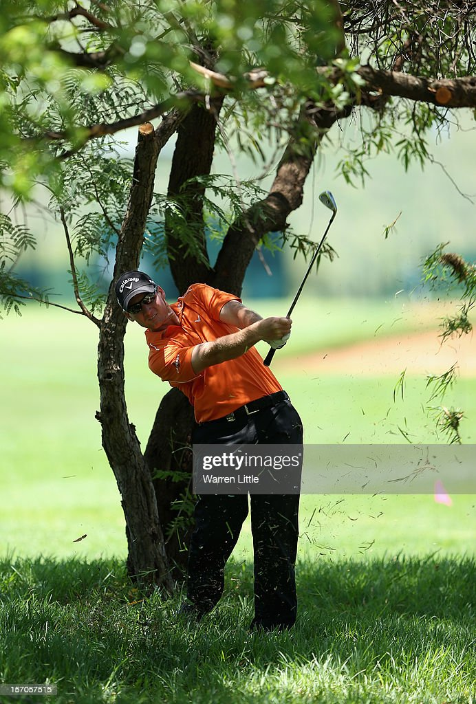 Garth Mulroy of South Africa in action during the Pro-Am of the Nedbank Golf Challenge at the Gary Player Country Club on November 28, 2012 in Sun City, South Africa.