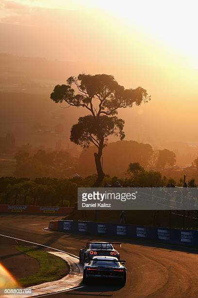 Garth Tander drives the Audi R8LMS during the Bathurst 12 Hour Race at Mount Panorama on February 7 2016 in Bathurst Australia