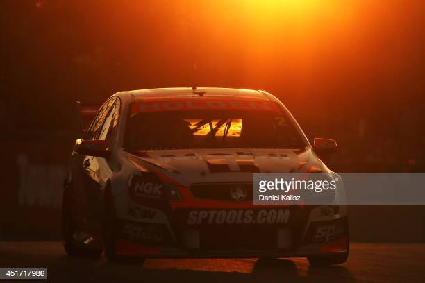 Garth Tander drives the Holden Racing Team Holden during race 21 for the Townsville 500 which is round seven of the V8 Supercar Championship Series...