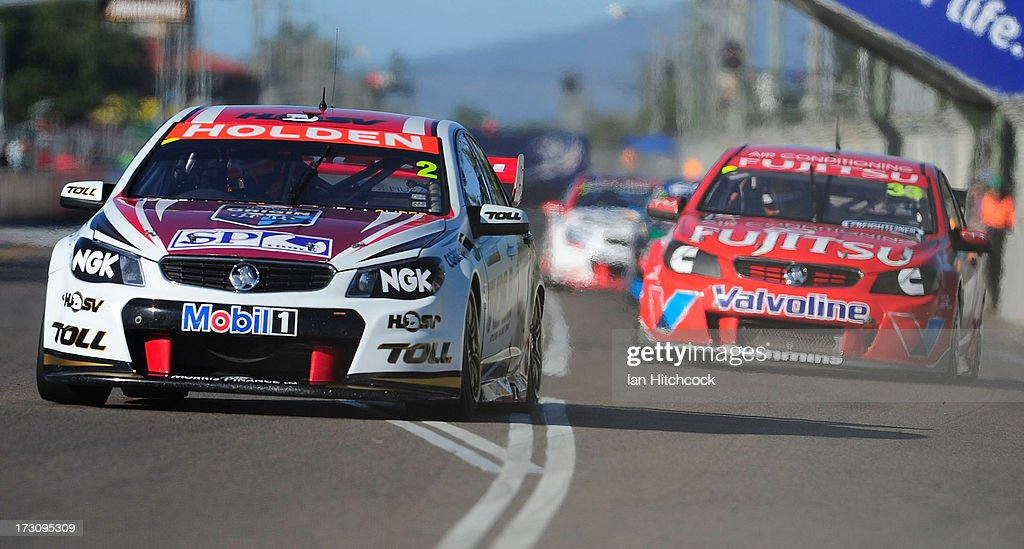 Garth Tander drives the #2 Holden Racing Team Holden during race 21 of the Townsville 400, which is round seven of the V8 Supercar Championship Series at Reid Park on July 7, 2013 in Townsville, Australia.