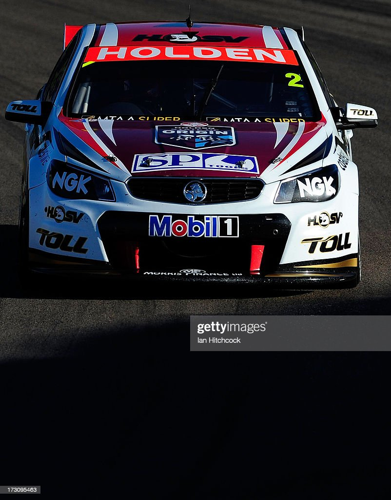 <a gi-track='captionPersonalityLinkClicked' href=/galleries/search?phrase=Garth+Tander&family=editorial&specificpeople=675225 ng-click='$event.stopPropagation()'>Garth Tander</a> drives the #2 Holden Racing Team Holden during race 21 of the Townsville 400, which is round seven of the V8 Supercar Championship Series at Reid Park on July 7, 2013 in Townsville, Australia.