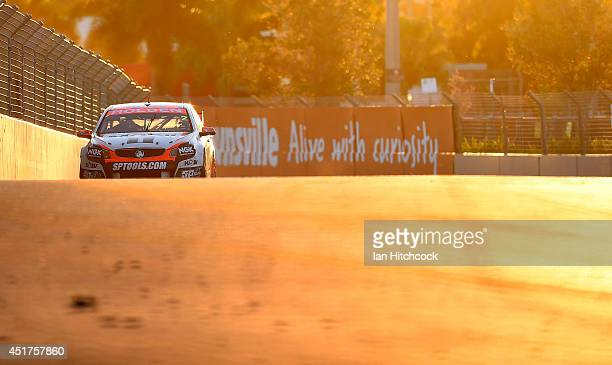 Garth Tander drives the Holden Racing Team Holden during race 22 of the Townsville 500 which is round seven of the V8 Supercar Championship Series at...