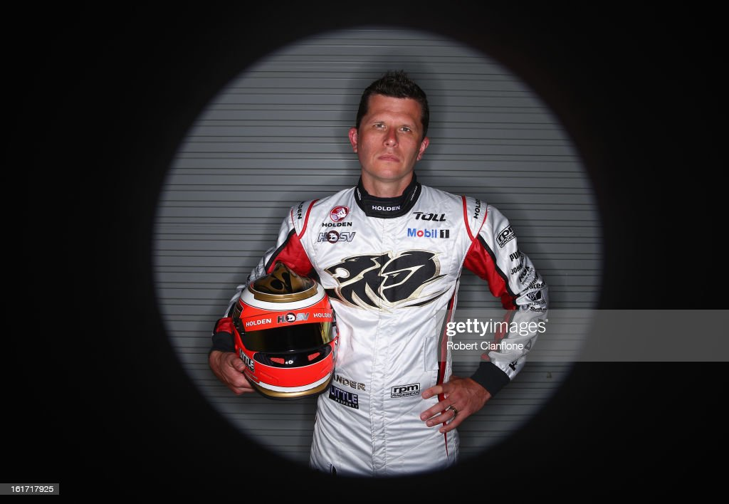 Garth Tander of the Holden Racing Team poses during a V8 Supercars driver portrait session at Eastern Creek Raceway on February 15, 2013 in Sydney, Australia.