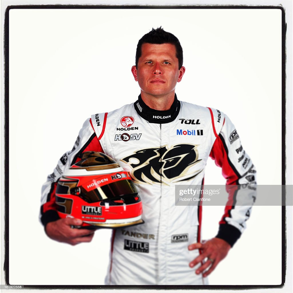<a gi-track='captionPersonalityLinkClicked' href=/galleries/search?phrase=Garth+Tander&family=editorial&specificpeople=675225 ng-click='$event.stopPropagation()'>Garth Tander</a> of the Holden Racing Team poses during a V8 Supercars driver portrait session at Eastern Creek on February 15, 2013 in Sydney, Australia.