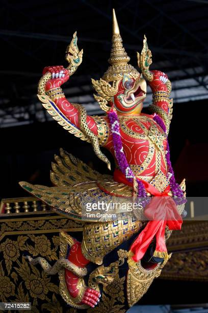 Garuda figurehead at the Royal Barge Museum in Bangkok Thailand