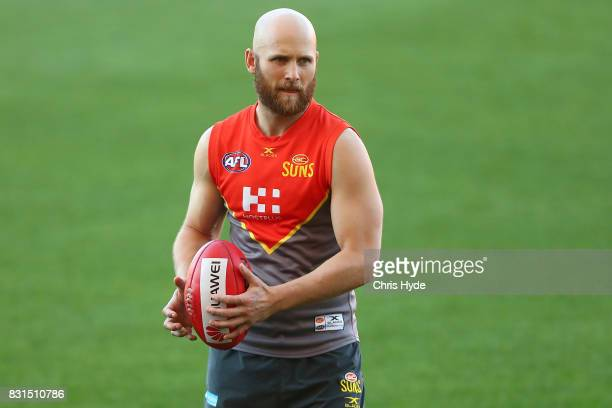 Gary Ablett during a Gold Coast Suns AFL training session at Metricon Stadium on August 15 2017 in Gold Coast Australia