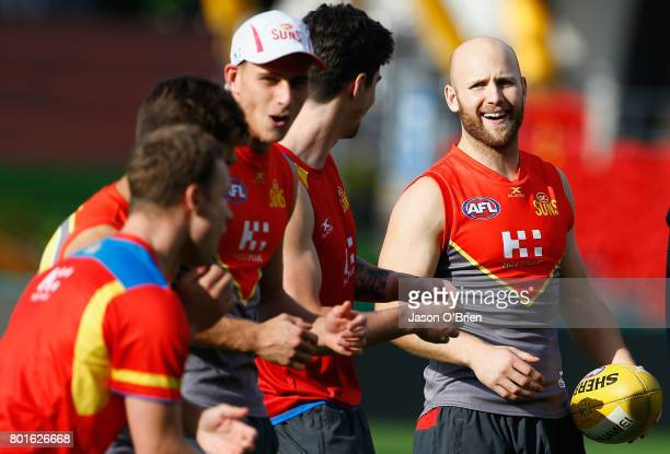 Gary Ablett is seen during a Gold Coast Suns AFL training session at Metricon Stadium on June 27 2017 in Gold Coast Australia