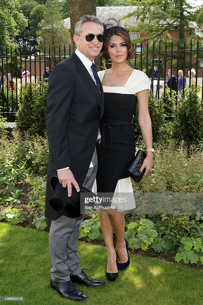 Gary and Danielle Lineker attend day one of Royal Ascot at Ascot Racecourse on June 19, 2012 in Ascot, England.
