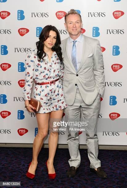 Gary and Lauren Kemp at the 2012 Ivor Novello awards held at the Grosvenor House Hotel London