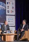 Gary B Bettman Commissioner of the NHL and Pat LaFontaine attend Beyond Sport United 2015 on July 22 2015 in Newark City