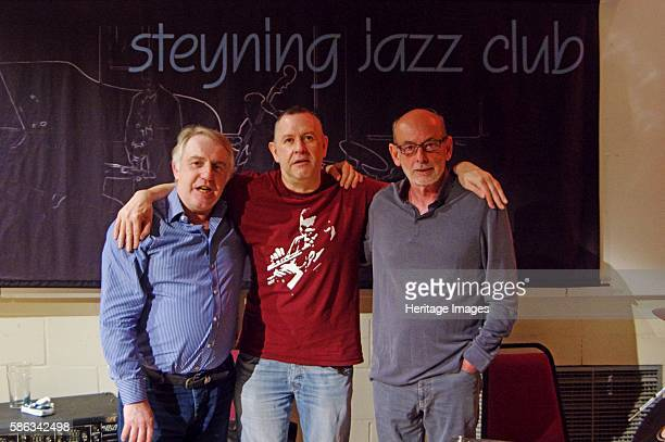 Gary Baldwin Mike Bradley and Mick Hanson Steyning Jazz Club West Sussex May 2016 Artist Brian O'Connor