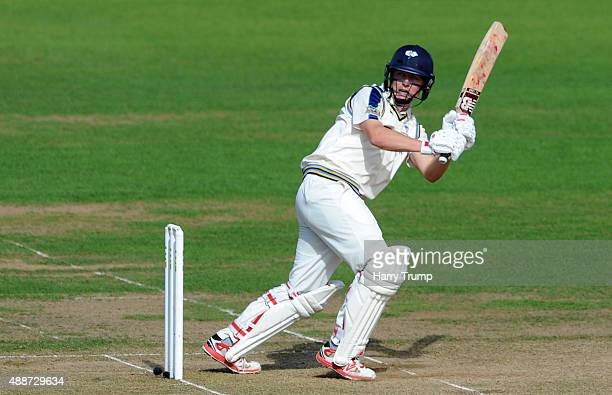 Gary Ballance flicks the ball during the LV County Championship match between Hampshire and Yorkshire at Ageas Bowl on September 17 2015 in...
