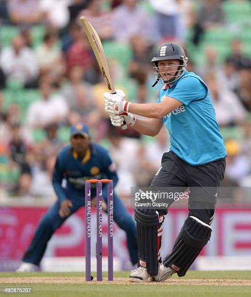 Gary Ballance of England bats during the 1st Royal London One Day International match between England and Sri Lanka at The Kia Oval on May 22 2014 in...